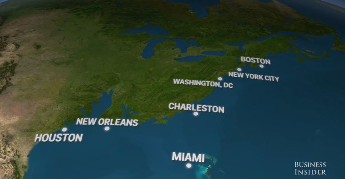 Videos Of What The World's Coastlines Will Look Like If All Earth's Ice Melted