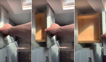 Clever Fix For Kitchen Drawer To Pass Protruding Window Frame