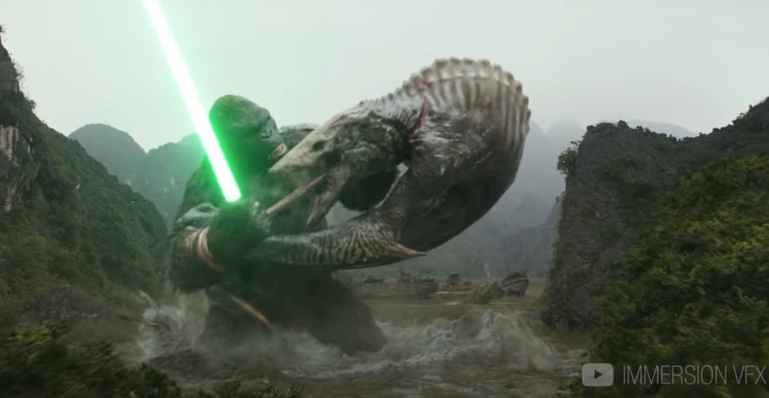 Kong: Skull Island But Kong Has A Lightsaber