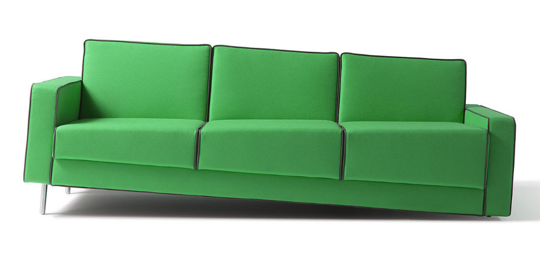 Optical Illusion 'Leaning' Sofas
