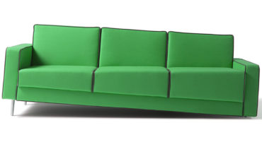 Optical Illusion 'Leaning' Sofas