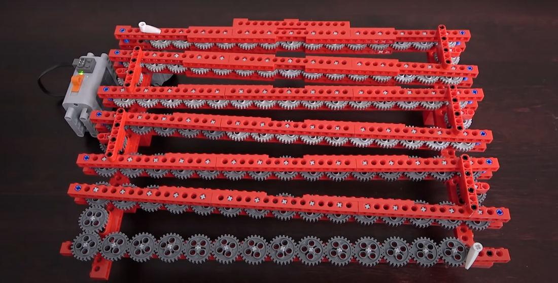 Creating The World's Longest 1:1 LEGO Gear Train