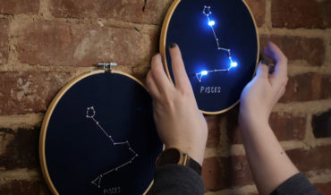 Clever: Light-Up Zodiac Constellation Embroidery With Integrated LEDs