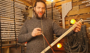 Man Constructs One-String 'Mouth Violin'
