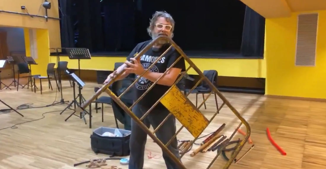 What The?: Man Plays Metal Street Barricade Like A Flute