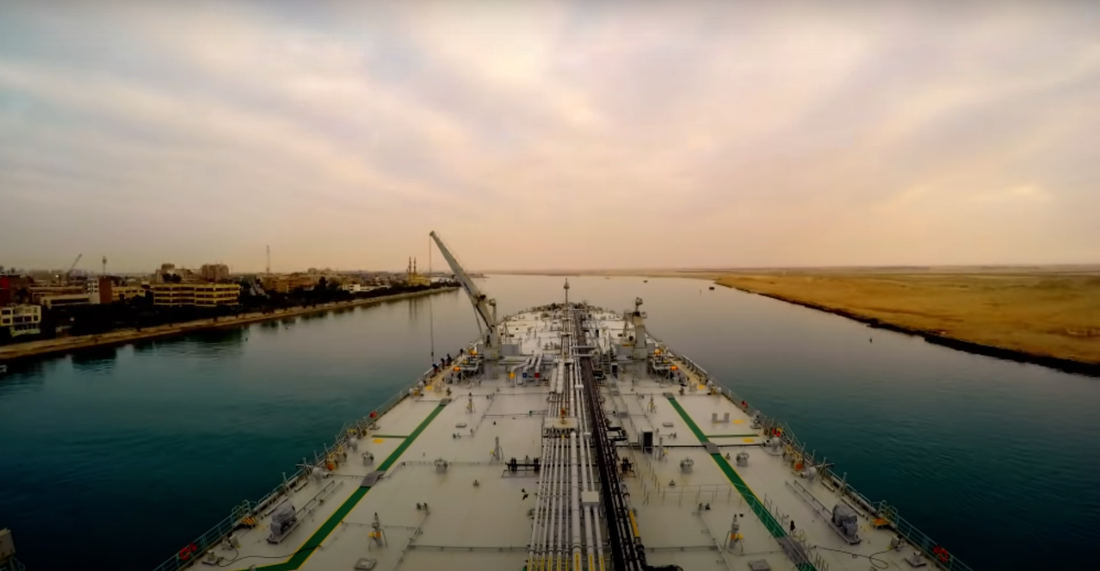 A Timelapse Through The Suez Canal But Not Getting Stuck And Ruining Everything
