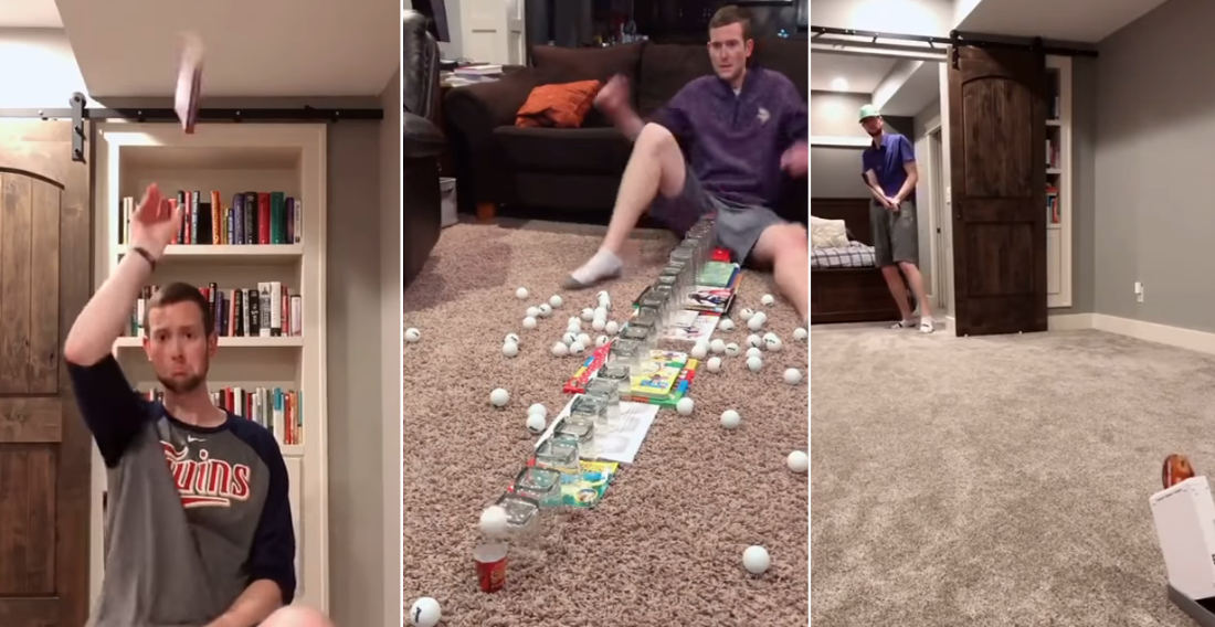 Compilation Of One Man's Incredible Trick Shots
