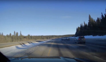 Just Like In The Movies: Truck Does Accidental 360 At High Speed On Icy Highway