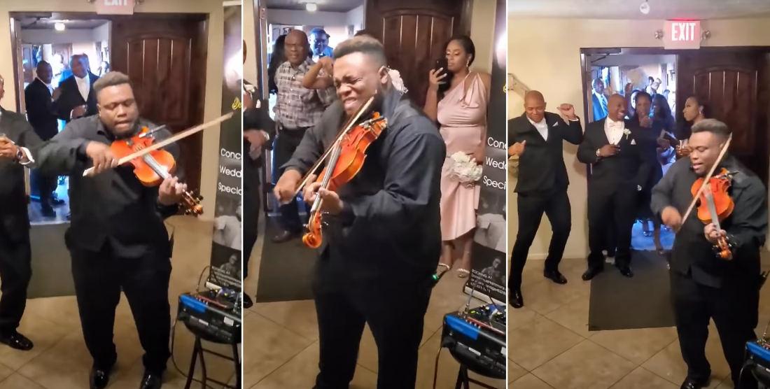 Violinist goes Ham At Wedding Reception