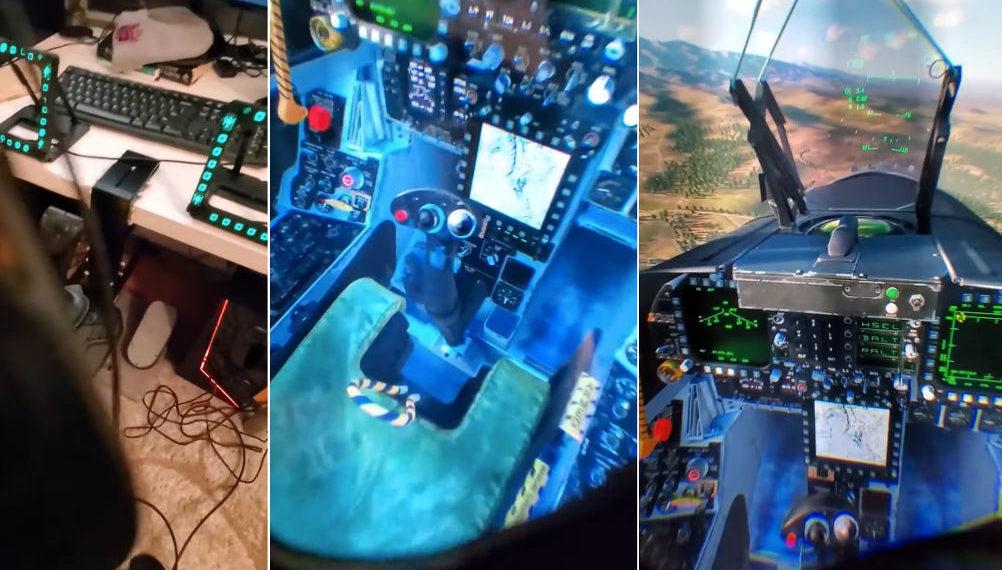 Whoa: Man Shows Off Impressive VR Flying Simulator Rig