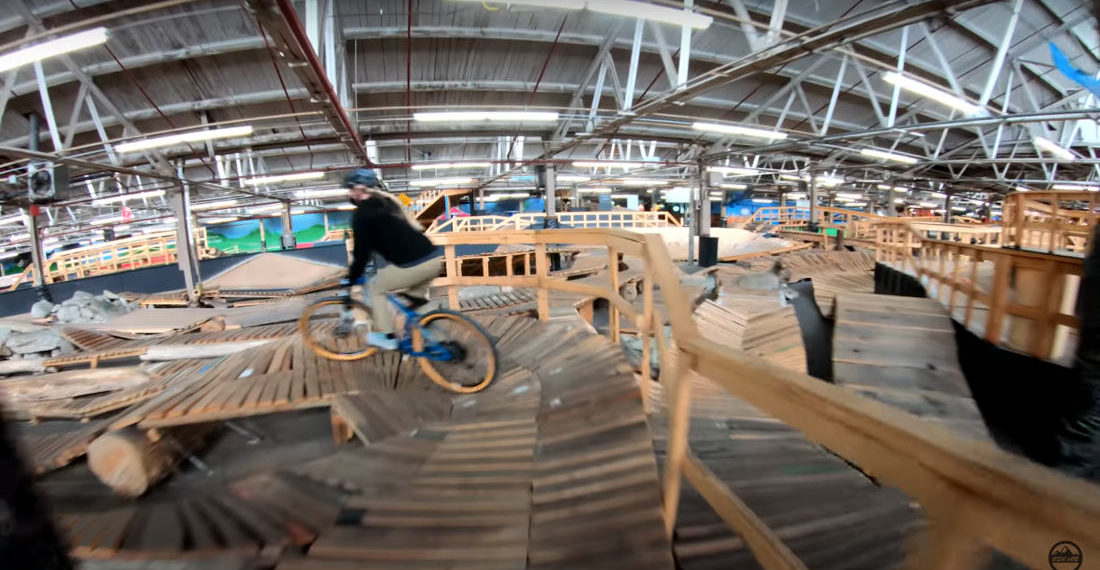 The World's Longest Indoor Mountain Bike Trail