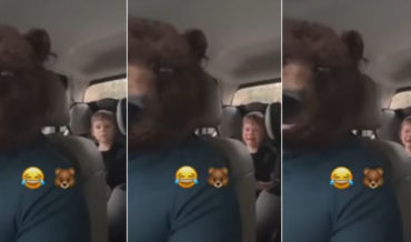 Father Traumatizes Son With Bear Face Video Filter