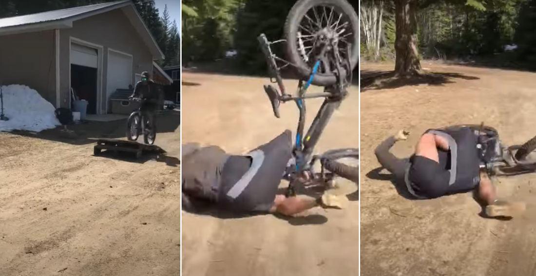 LOLOL: Man Fails World's Saddest Bike Jump, Bike Pulls His Pants Down