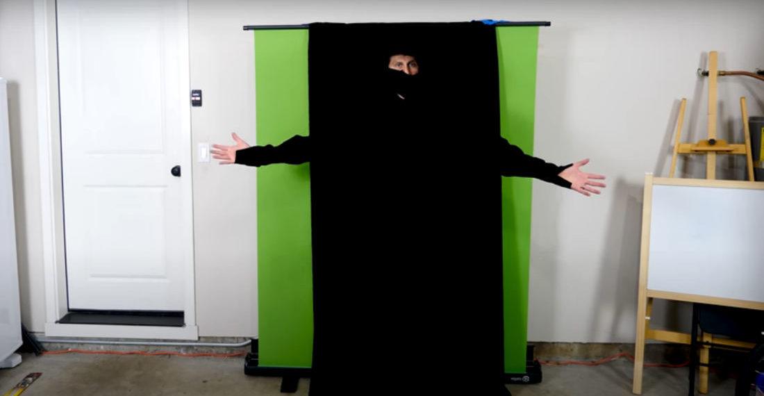 Instant Ninja: Engineer Makes World's Darkest Clothing