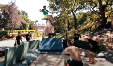 Looks Dangerous: Kid Performs Ultra-High Octuple Backflip On Trampoline