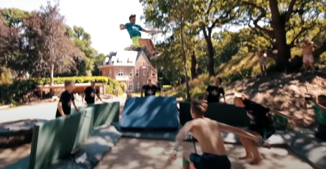 Looks Dangerous: Kid Performs Ultra-High Octuple Backflip On Trampoline