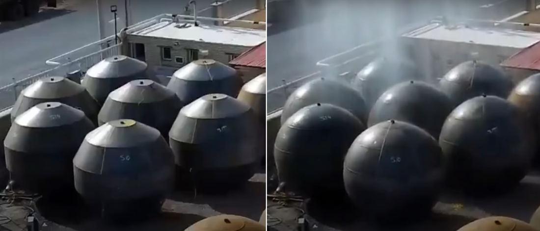 Holy Smokes: Explosive Hydroforming Giant Metal Spheres