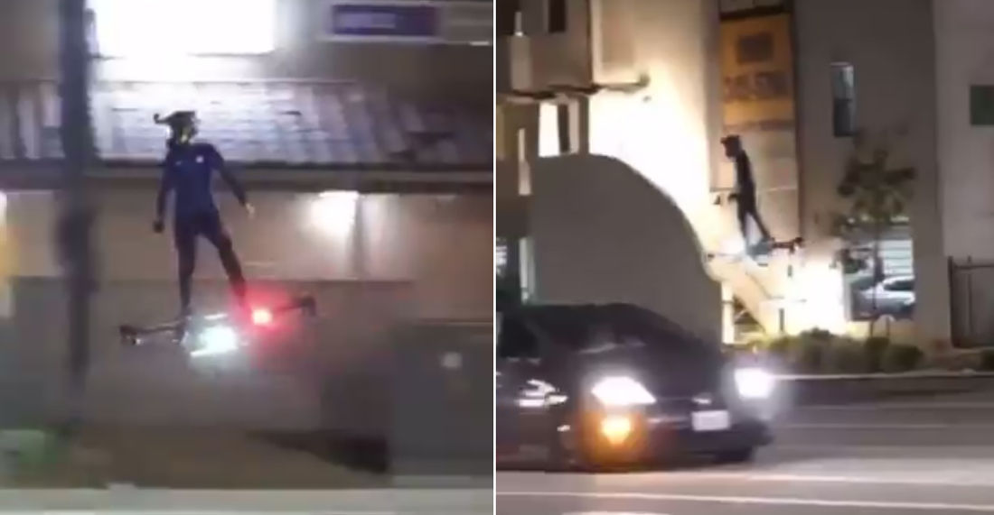 Octocopter Hoverboard Spotted On The Streets Of Los Angeles