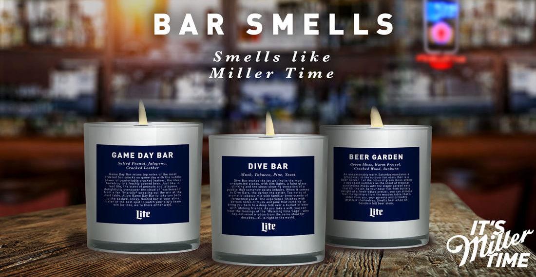 Miller Lite Bar Scented Candles