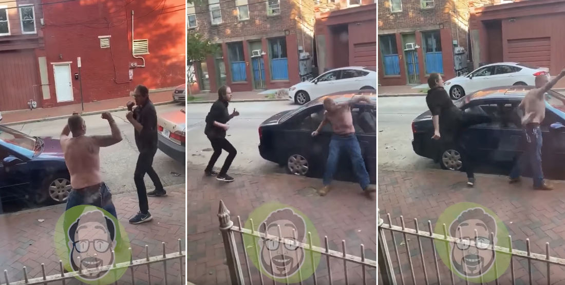 Amateur Street Fight With Mortal Kombat Sound Effects Added