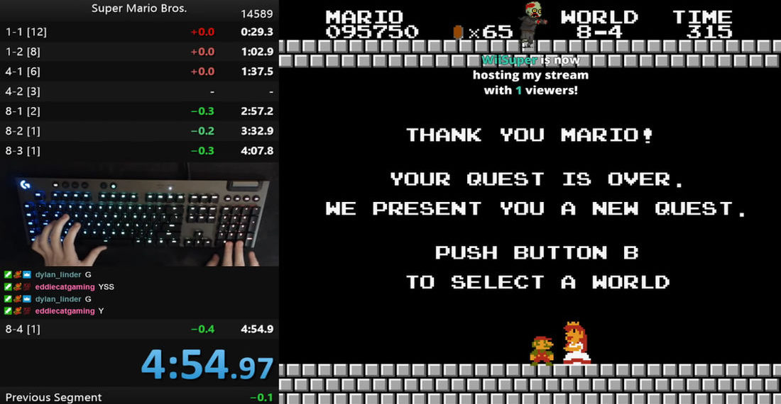First Sub 4:55 Time Becomes New Super Mario Bros. World Speedrun Record