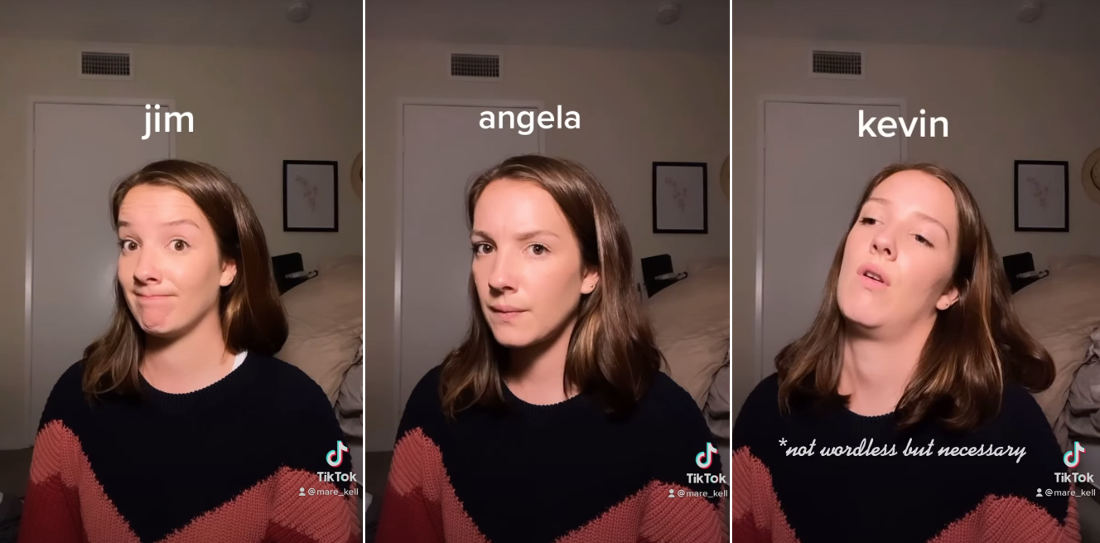 Woman Performs Voiceless Face Acting Impressions Of All The Office Characters