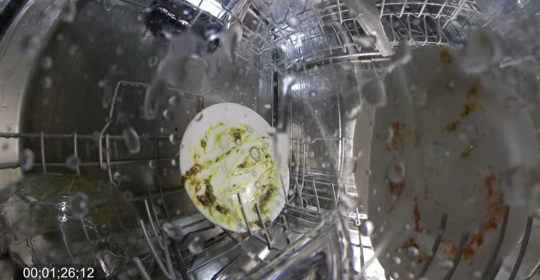 Guy Puts Lights And Cameras Inside Dishwasher To See How It Works