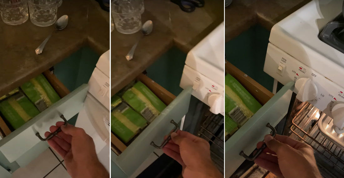 Kitchen Drawer Requires Analog 3-Factor Authentication To Open