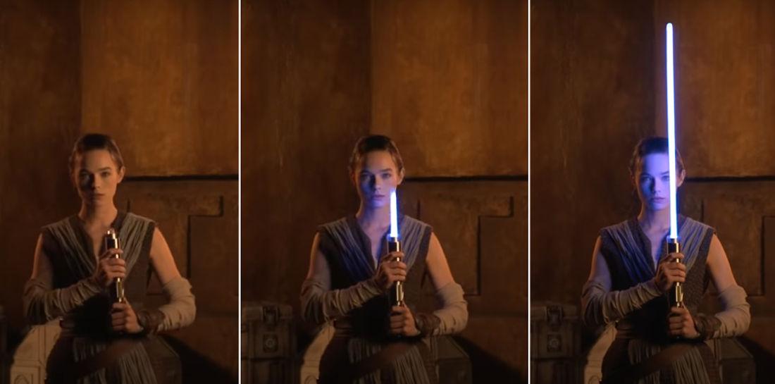Disney Demonstrates Impressive Retractable Blade Lightsaber