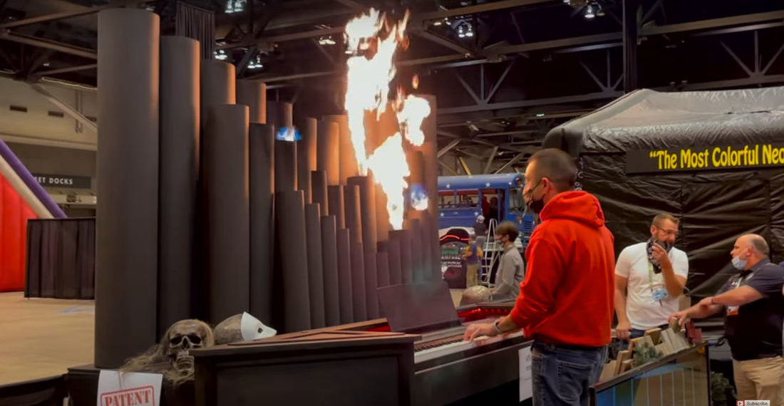 Playing Bach On A Flaming Pipe Organ
