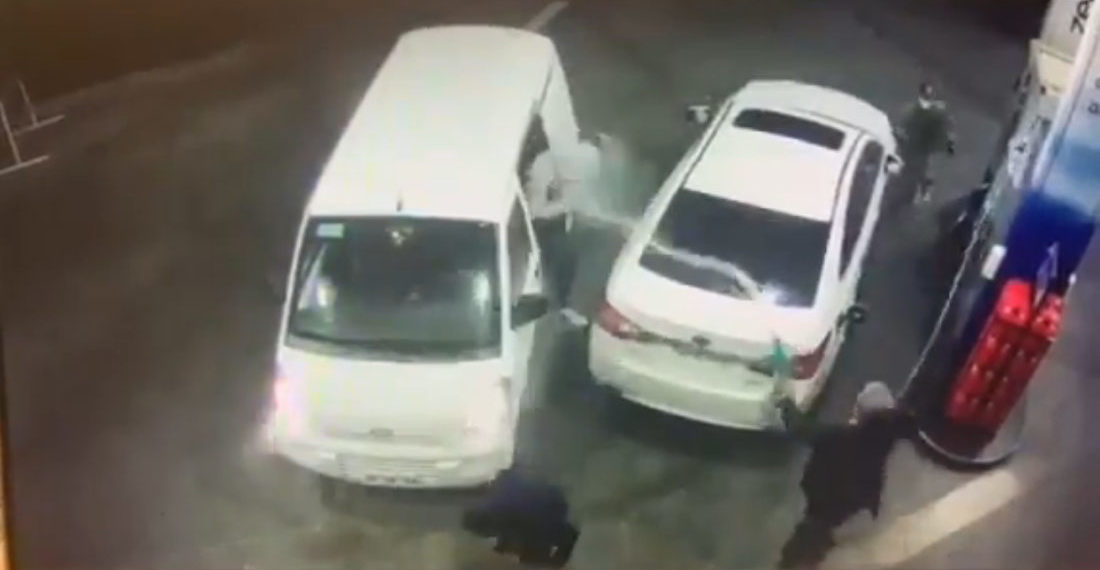 Unarmed Robbers Attempt To Carjack Man At Gas Pump, Gasoline Party Ensues