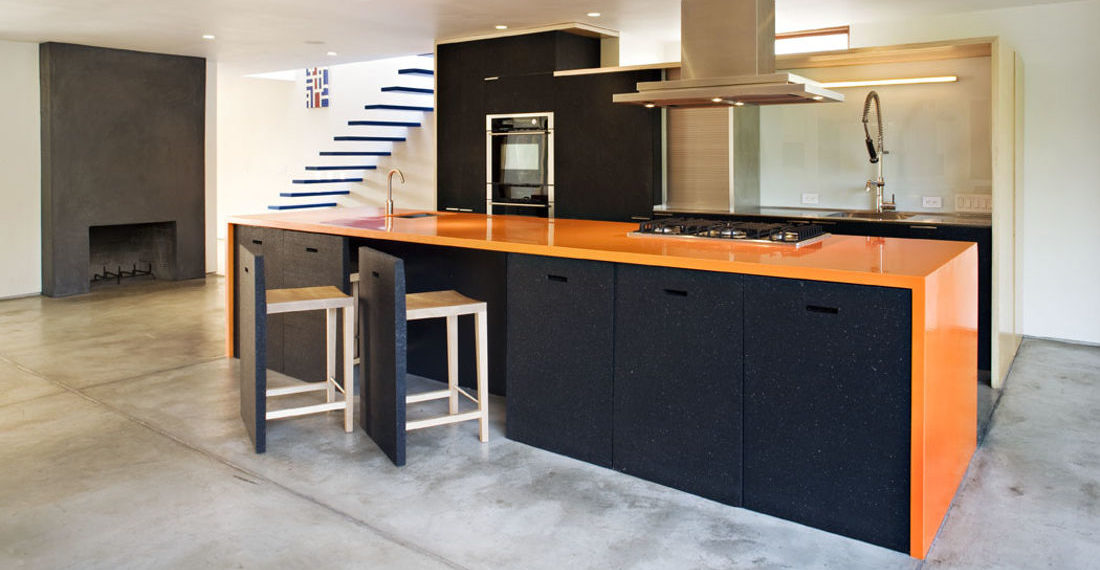 Kitchen Island Stools Disguised As Part Of The Island Itself