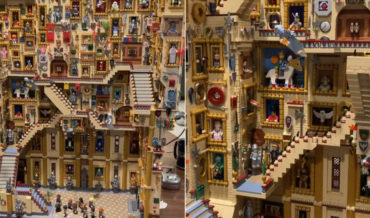 Hogwarts Moving Grand Staircase Recreated In LEGO