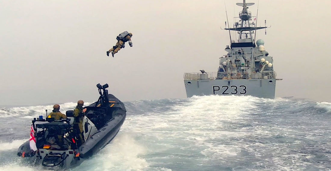 UK Royal Navy Demonstrates Jetpack Ship Boarding Capabilities
