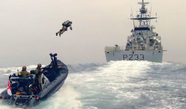 UK Royal Navy Demonstrates Jetpack Ship Boarding Capabilities