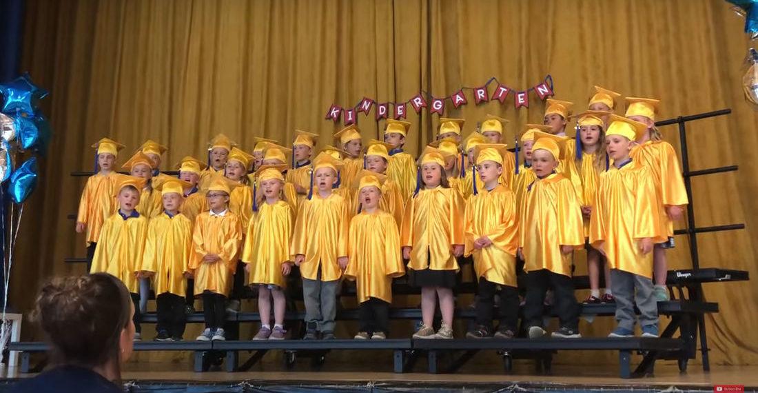 """Kindergarteners Perform School Themed Version Of Journey's 'Don't Stop Believin"""""""