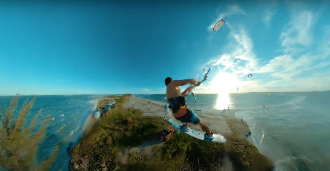 Up, Up And Away!: Kitesurfer Jumps Across Peninsula