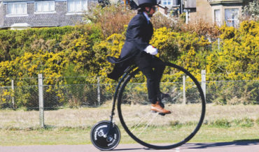 Guy Documents Himself Learning To Ride A Penny-Farthing Bicycle
