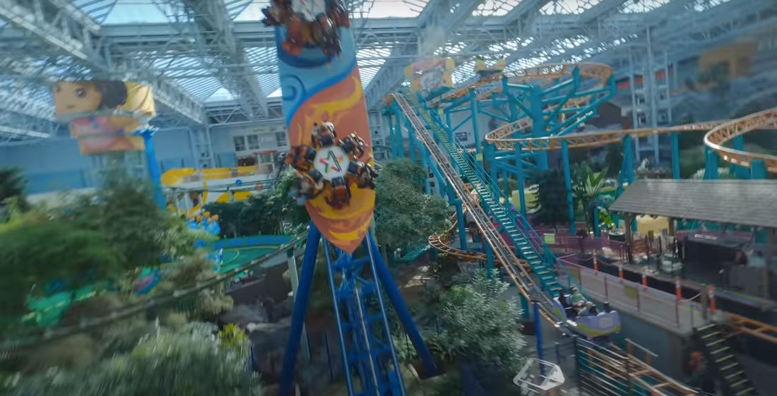 Incredible Drone Flight Through The Mall Of America