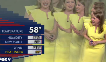 Computer Glitch Causes Meteorologist To Multiply On Screen, She Loses It