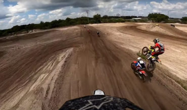 Motocross Rider Lands Directly On Top Of Another After Jump