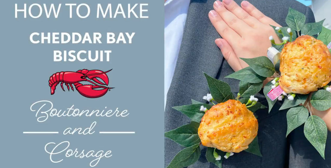 Red Lobster Releases Tutorial For Turning Cheddar Bay Biscuits Into Prom Corsages