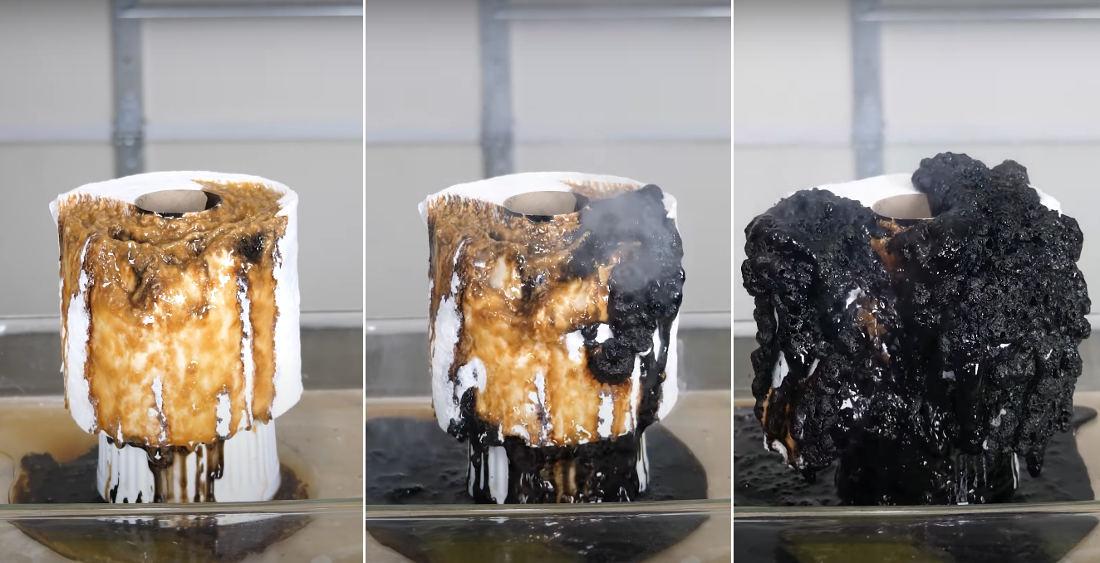 Sulfuric Acid + Toilet Paper = Demon Spawn