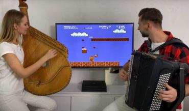 Super Mario Bros. World 1-1 Music & Sound Effects On Bandura and Accordion