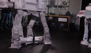 Attempting To Trip A Model AT-AT With A Snowspeeder Drone