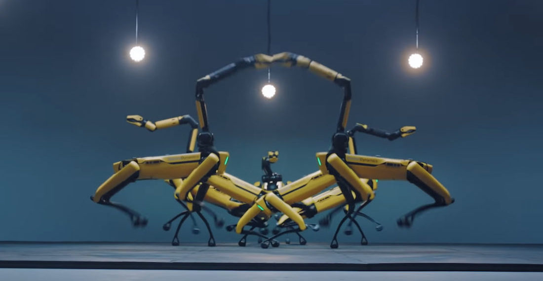 The End Nears: Seven Boston Dynamics Spot Robots Dance In Unison