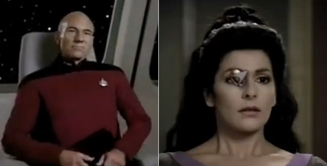 If Captain Picard's Communicator Badge Popped Off Whenever He Tugged His Shirt