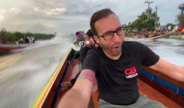 70+MPH Drag Racing Riverboats In Bangkok, Thailand