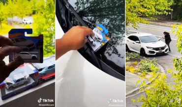 Guy Leaves Exact Hot Wheels Version Of Guy's Civic Type R On Windshield For Him