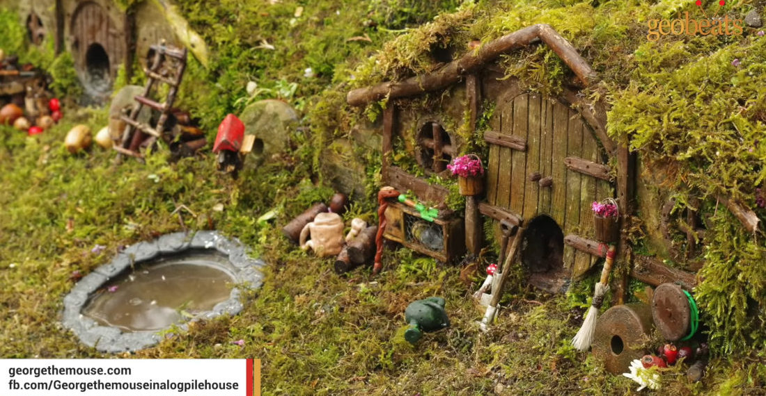 Man Builds Hobbit Village For The Mice In His Garden